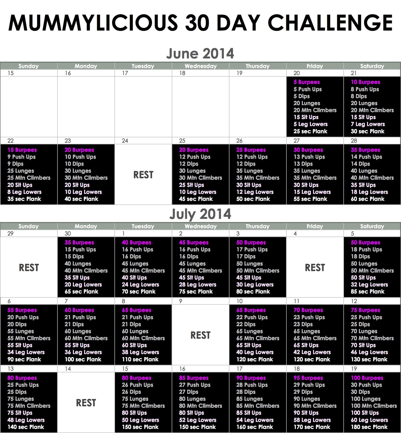 30 Day Winter Challenge